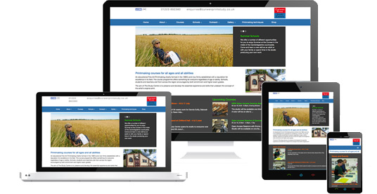 Responsive website design for Curwen Print Study Centre by Newporter, Cambridge